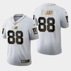 New York Giants 88 Evan Engram 100ème Saison Golden Edition Jersey Hommes - Blanc