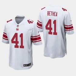 New York Giants Jersey 41 Antoine Bethea Jeu Hommes - Blanc