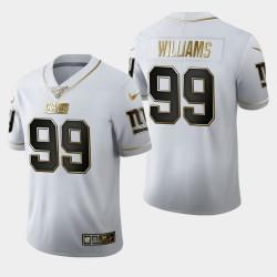New York Giants 99 Leonard Williams 100e Saison Golden Edition Jersey Hommes - Blanc