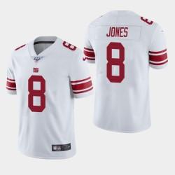 Hommes Giants de New York 8 Daniel Jones 100ème saison de vapeur Limited Jersey - Blanc