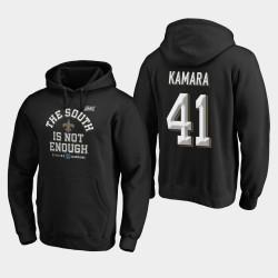 Hommes New Orleans Saints 41 Alvin Kamara 2019 NFC Cover Division Sud Champions Deux Sweat à capuche - Noir