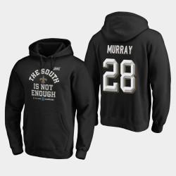 Hommes New Orleans Saints 28 Latavius Murray 2019 NFC Cover Division Sud Champions Deux Sweat à capuche - Noir