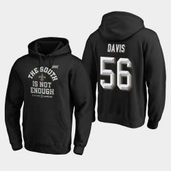 Hommes New Orleans Saints 56 Demario Davis 2019 NFC Cover Division Sud Champions Deux Sweat à capuche - Noir