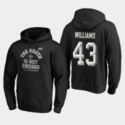 Hommes New Orleans Saints 43 Marcus Williams 2019 NFC Cover Division Sud Champions Deux Sweat à capuche - Noir