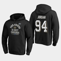 Hommes New Orleans Saints 94 Cameron Jordan 2019 NFC Division Sud Champions couverture Deux Sweat à capuche - Noir