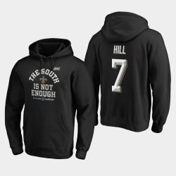 Saints Taysom Hill 2019 NFC Couverture Division Sud Champions Deux Sweat à capuche - Noir