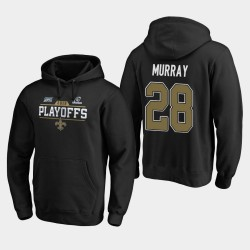 Hommes New Orleans Saints 28 Latavius ​​Murray 2019 NFL Playoffs Bound Chip Tir Sweat à capuche - Noir