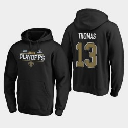 Hommes New Orleans Saints 13 Michael Thomas 2019 Chip Bound NFL Playoffs Tir Sweat à capuche - Noir