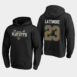 Hommes New Orleans Saints 23 Marshon Lattimore 2019 NFL Playoffs Bound Chip Tir Sweat à capuche - Noir