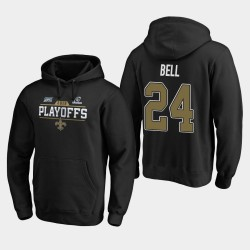 Hommes New Orleans Saints 24 Vonn de Bell 2019 NFL Playoffs Bound Chip Tir Sweat à capuche - Noir