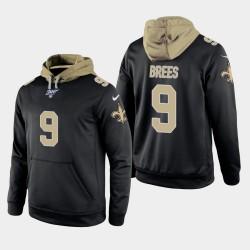 New Orleans Saints Drew Brees 9 100 Season Jeu shirt à capuche Homme - Noir