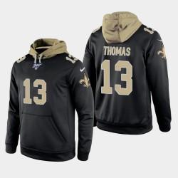 New Orleans Saints 13 Michael Thomas 100ème saison jeu Hoodie hommes - Noir