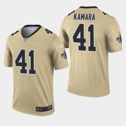 Nouvelle-Orléans Saints Hommes 41 Alvin Kamara Inverted Legend Jersey - Or