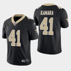 Hommes New Orleans Saints 41 Alvin Kamara 100ème saison de vapeur Limited Jersey - Noir