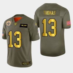 New Orleans Saints Michael Thomas 2019 Salut au service NFL 100 Jersey - métallique