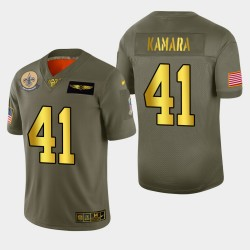 La Nouvelle-Orléans Saints Hommes 41 Alvin Kamara 2019 Salut au service métallique NFL 100 Jersey