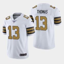 La Nouvelle-Orléans Saints Hommes 13 Michael Thomas 100ème Couleur Saison Rush Jersey - Blanc