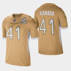 Nouvelle-Orléans Saints Hommes 41 Alvin Kamara 2020 NFC Pro Bowl Jeu Jersey - or