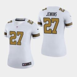 Femmes New Orleans Saints 27 Malcolm Jenkins couleur Rush Legend Jersey - Blanc