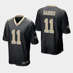 New Orleans Saints 11 Deonte Harris jeu Jersey hommes - Noir