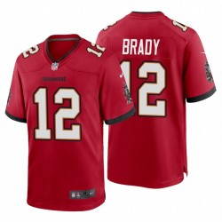 Tampa Bay Buccaneers 12 hommes Tom Brady Jeu Maillot - Rouge