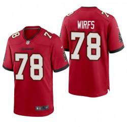 Tristan Wirfs 78 Buccaneers Red Draft NFL jeu Maillot