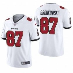 Rob Gronkowski Tampa Bay Buccaneers Vapor limitée authentique Maillot - Blanc