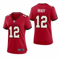 Les femmes Buccaneers Tom Brady 12 Red jeu Maillot