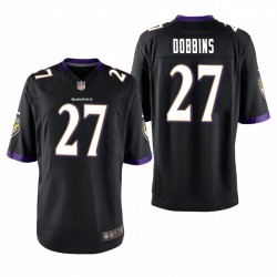J.K. Dobbins 27 Baltimore Ravens jeu noir Maillot NFL Draft
