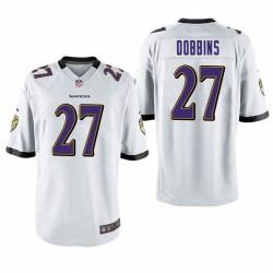 J.K. Dobbins 27 Baltimore Ravens blanc jeu Maillot NFL Draft