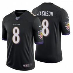 Ravens 8 Lamar Jackson Noir 100e saison limitée Maillot