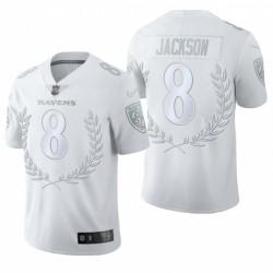 Ravens 8 Lamar Jackson NFL MVP Platinum Limited Edition Maillot