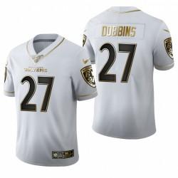 Ravens J.K. Dobbins blanc NFL Draft Golden Edition Maillot