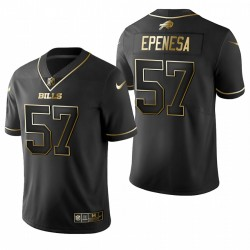 AJ Bills Epenesa Noir NFL Draft Golden Edition Maillot