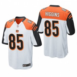 Tee Higgins 85 Cincinnati Bengals Blanc jeu Maillot NFL Draft