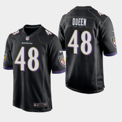 NFL Draft Baltimore Ravens 48 Patrick Queen Jeu Maillot Hommes - Noir