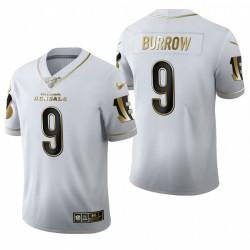 Bengals Joe Burrow blanc NFL Draft Golden Edition Maillot