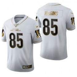 Bengals T Higgins blanc NFL Draft Golden Edition Maillot