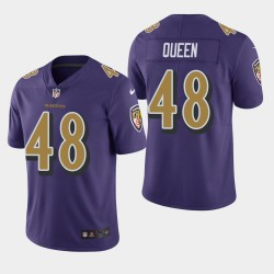 NFL Draft Baltimore Ravens 48 Patrick Queen Color Rush Limited Jersey Homme - Violet