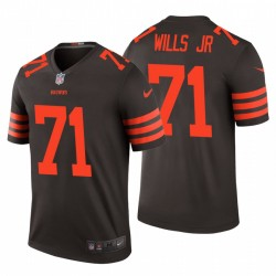 Jedrick Wills hommes Jr. 71 Cleveland Browns Brown Couleur Rush limitée Maillot NFL Draft