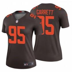 Femmes Myles Garrett 95 Cleveland Browns Autre Legend Brown Maillot