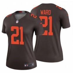 Denzel Ward Femmes 21 Cleveland Browns Autre Legend Brown Maillot