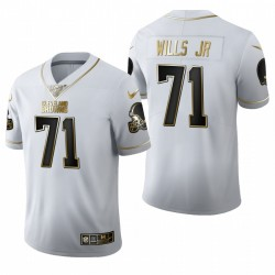 Browns Jedrick Wills Jr. blanc NFL Draft Golden Edition Maillot
