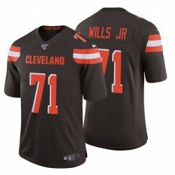 Jedrick Wills Jr. 71 Cleveland Browns Brown Vapor limitée Maillot NFL Draft