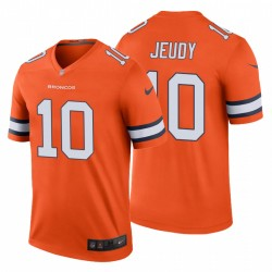 Jerry Jeudy 10 Denver Broncos Couleur Orange Rush Legend Maillot NFL Draft hommes