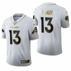 Broncos KJ Hamler blanc NFL Draft Golden Edition Maillot