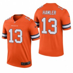 KJ Hamler Denver Broncos Couleur Orange Rush Legend Maillot NFL Draft