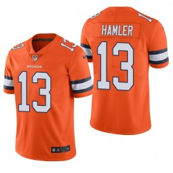 KJ Hamler Denver Broncos Couleur Orange Rush limitée Maillot NFL Draft