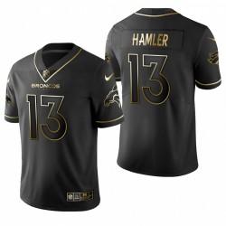 Broncos KJ Hamler Noire NFL Draft Golden Edition Maillot