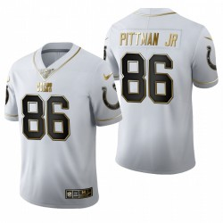Colts Michael Pittman Jr. blanc NFL Draft Golden Edition Maillot